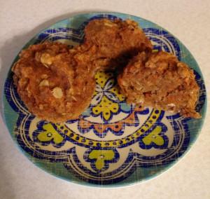 cut carrot muffin