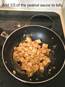 peanut sauce to tofu