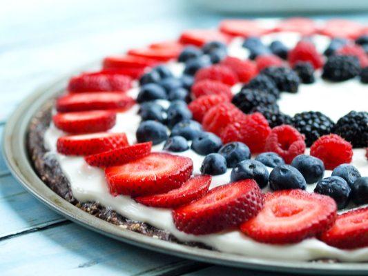 Healthier Dessert Pizza