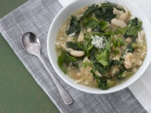Slow-Cooker Quinoa, Chicken And Kale Soup Recipe adapted from Cooking Classy